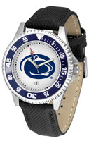 Penn State Nittany Lions Competitor Leather Watch White Dial