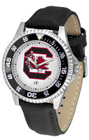 South Carolina Gamecocks Competitor Leather Watch White Dial