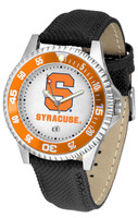 Syracuse Orange Competitor Leather Watch White Dial