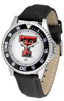 Texas Tech Red Raiders Competitor Leather Watch White Dial