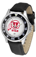 Utah Utes Competitor Leather Watch White Dial