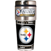 Pittsburgh Steelers 16oz Travel Tumbler with Metallic Wrap Logo