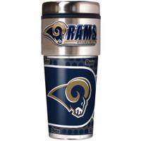 Los Angeles Rams 16oz Travel Tumbler with Metallic Wrap Logo