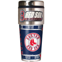 Boston Red Sox 16oz Travel Tumbler with Metallic Wrap Logo
