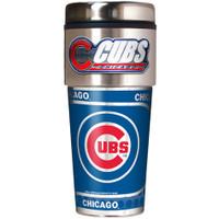 Chicago Cubs 16oz Travel Tumbler with Metallic Wrap Logo