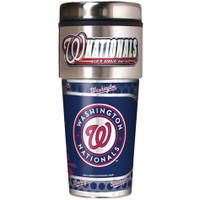 Washington Nationals 16oz Travel Tumbler with Metallic Wrap Logo