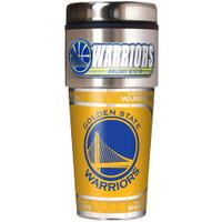 Golden State Warriors 16oz Travel Tumbler with Metallic Wrap Logo