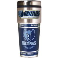 Memphis Grizzlies 16oz Travel Tumbler with Metallic Wrap Logo