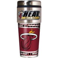 Miami Heat 16oz Travel Tumbler with Metallic Wrap Logo