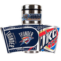 Oklahoma City Thunder 16oz Travel Tumbler with Metallic Wrap Logo