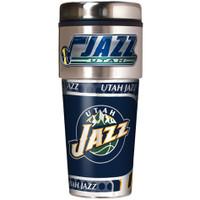 Utah Jazz 16oz Travel Tumbler with Metallic Wrap Logo