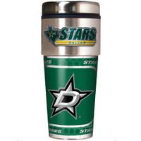 Dallas Stars 16oz Travel Tumbler with Metallic Wrap Logo