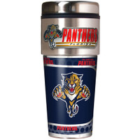 Florida Panthers 16oz Travel Tumbler with Metallic Wrap Logo