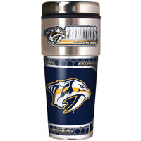 Nashville Predators 16oz Travel Tumbler with Metallic Wrap Logo
