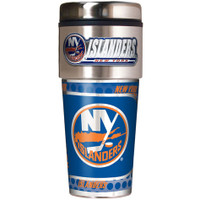 New York Islanders 16oz Travel Tumbler with Metallic Wrap Logo