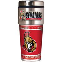 Ottawa Senators 16oz Travel Tumbler with Metallic Wrap Logo