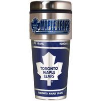 Toronto Maple Leafs 16oz Travel Tumbler with Metallic Wrap Logo