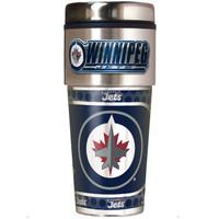 Winnipeg Jets 16oz Travel Tumbler with Metallic Wrap Logo