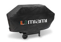 Miami Hurricanes Deluxe Barbecue Grill Cover