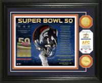 **Denver Broncos 2015 AFC Champions 2pc Gold Coin Photo Mint LE 2,016