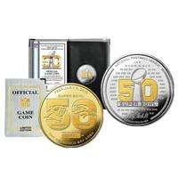 ***Super Bowl 50 Denver Broncos Official NFL Two Tone Flip Coin w/Case