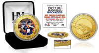 **Denver Broncos Peyton Manning Passing Record Color Coin w/Case