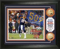"**Denver Broncos Peyton Manning 509 ""TD"" Record Photo Mint LE 2014"