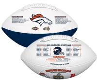 ***Denver Broncos Super Bowl 50 Champions Wilson Leather Football LE