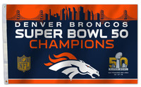 ***Denver Broncos Super Bowl 50 Champions 3' x 5' Flag