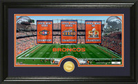 ***Denver Broncos Super Bowl 50 Champions Bronze Coin Traditions Panoramic Photo Mint LE