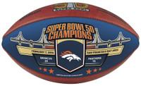 Denver Broncos Super Bowl 50 Gold Champions Color Panel Wilson Leather Football LE