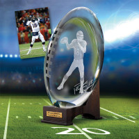 ***Denver Broncos Peyton Manning Crystal Mini Football LE 5000