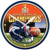 *Denver Broncos Super Bowl 50 Champions Round Wall Clock