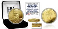 "Peyton Manning ""Retirement"" Gold Mint Coin w/Case LE"
