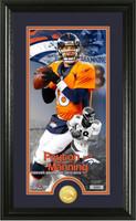 "Peyton Manning Denver Broncos ""Retirement"" Bronze Coin Photo Mint Framed LE"