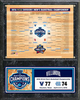 Villanova Wildcats 12'' x 15'' 2016 NCAA Men's Basketball National Champions Sublimated Bracket Plaque