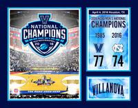 Villanova Wildcats 12'' x 15'' 2016 NCAA Men's Basketball National Champions Plaque w/Scores