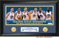 Golden State Warriors 73 Wins NBA Season Record 2pc 24k Gold Coin Photo Mint LE 2500