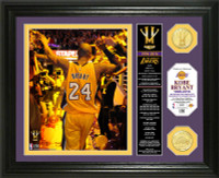 "Kobe Bryant Los Angeles Lakers ""Final Season"" Bronze Coin Banner Photo Mint LE 2,016"