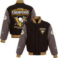 Pittsburgh Penguins 2016 NHL Stanley Cup Champions Wool Jacket - Black