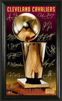 Cleveland Cavalier 2016 NBA Champions Signature Trophy Framed LE