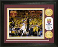 Cleveland Cavaliers 2016 NBA Champions Kyrie Irving 3PT Shot NBA Finals Bronze Coin Photo Mint LE