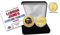 LeBron James Cleveland Cavaliers Bronze Color Coin Set LE 5000