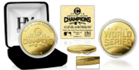 *Cleveland Indians 2016 AL Champions Gold Coin Limited Edition of 2016