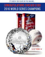 Chicago Cubs 2016 World Series Champions Solid Crystal Baseball LE
