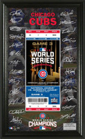 Chicago Cubs 2016 World Series Champions Signature Jumbo Ticket Framed LE