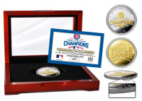 Chicago Cubs 2016 World Series Champions Gold and Silver 2 Tone Coin w/Case LE
