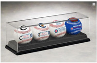 Chicago Cubs 2016 World Series Commemorative 4-Ball Set w/Logo Case LE 5000