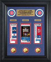 Chicago Cubs 2016 World Series Champions Deluxe Gold Coin & Ticket Collection Framed LE 2016