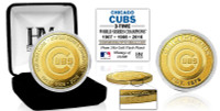 Chicago Cubs 3 Time World Series Champions Gold Coin LE